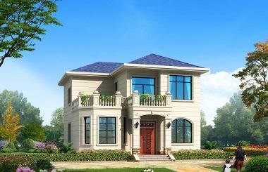 小巧精致的欧式二层自建房屋设计图,小户型,经济实用