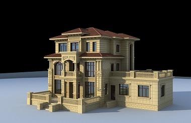 欧式复古三层复式别墅施工图,高端自建房屋设计图