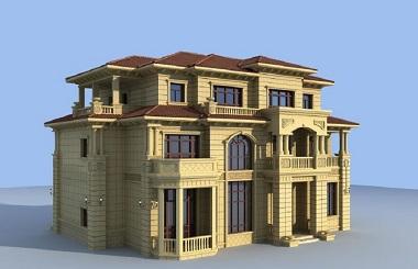 复古欧式三层自建别墅施工图,带有超豪华地下室和地下室采光井