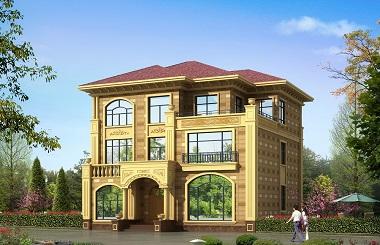 13*14m复古欧式三层复式别墅设计图,造价40万左右,含全套完善施工图纸