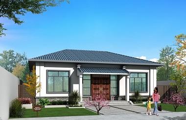 造价15万左右的中式一层自建房屋施工图,四室两厅一厨一卫