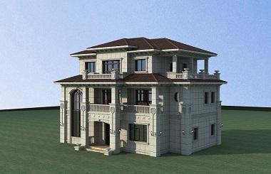 造价50万左右3层自建复式别墅设计图,含全套完善施工图纸