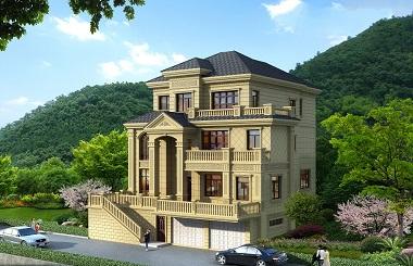 高端欧式三层自建别墅施工图,带有地下室及地下车库