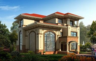 一款非常高端大气的三层复式别墅设计图,造价50万左右