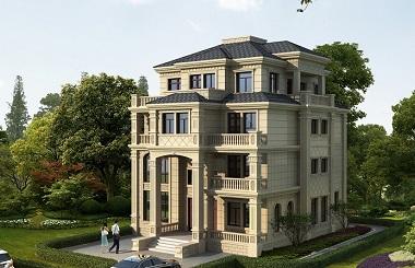 欧式高端自建复式别墅施工图,四层古典建筑设计