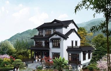 富有江南气息的高端三层自建别墅设计图,带有地下室
