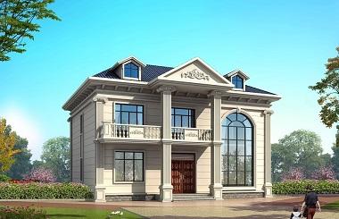欧式复式二层自建小别墅设计图,造价28万左右,美观实用