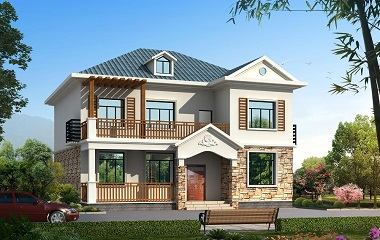 12*14m精致二层小别墅设计图,造价30万左右,房间数量较多