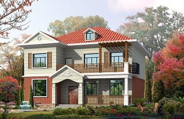 一款非常温馨的的现代田园小别墅设计图,造价30万左右