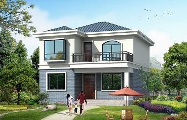 造价15万左右的现代简约二层小户型自建别墅施工图