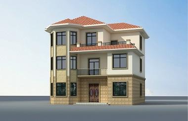 一款非常漂亮的三层田园复式别墅设计图,轩鼎原创出品