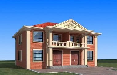 经典二层双拼别墅设计图,布局完善,单户造价20万左右