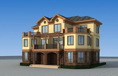 古典复式三层双拼别墅设计图,造价合理