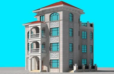 占地160平方米经典四层复式别墅设计图,带有室内车库