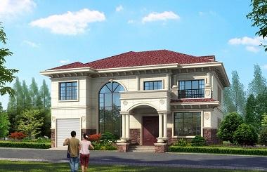 经典二层田园复式自建别墅施工图,16.0m*15.5m,美观实用