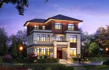 经典三层复式别墅设计图,中式风格,占地140平方米,大小适中