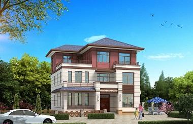 精品中式三层自建别墅设计图,复式客厅,造价30万左右
