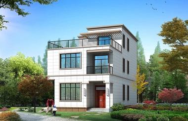 新农村三层平顶自建别墅设计图,造价30万左右,经济实用