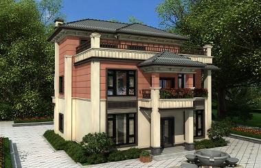 中式三层自建别墅设计图,农村自建三层别墅