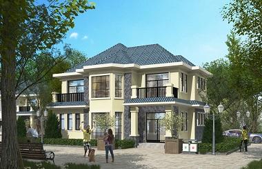 经典二层自建别墅设计图,自建别墅图纸
