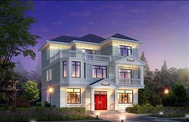 现代三层自建小别墅设计图,经典户型自建房屋