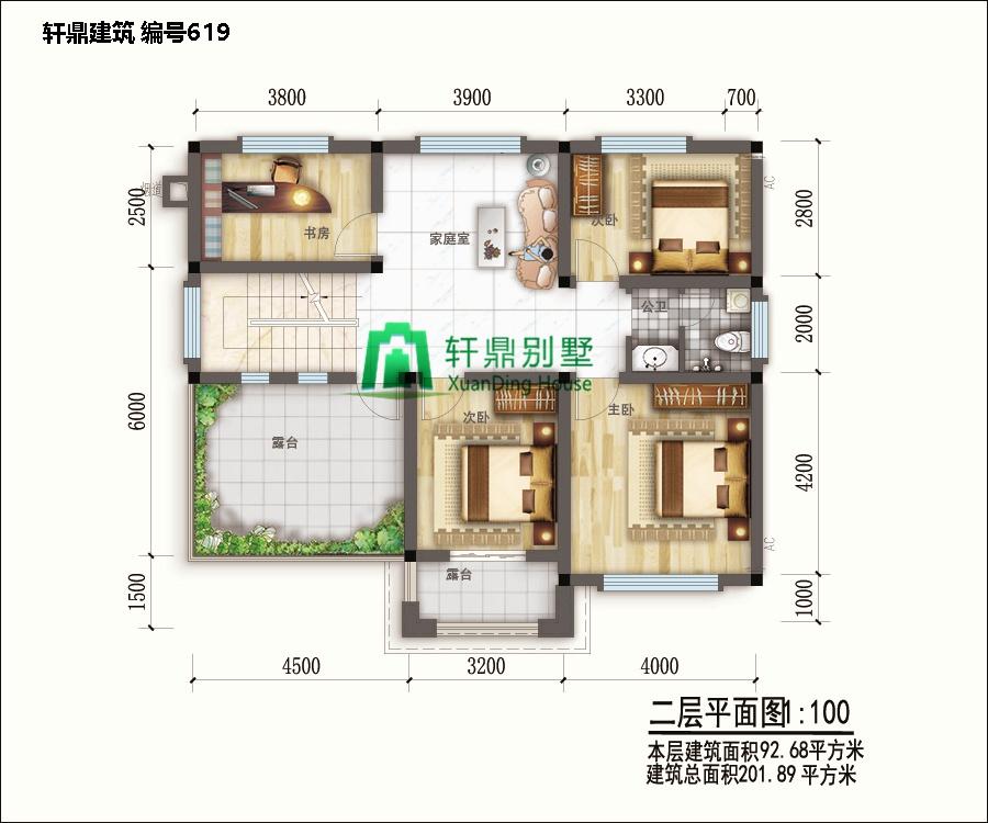 新中式二层自建别墅设计图平面,含全套完善施工图纸2.jpg