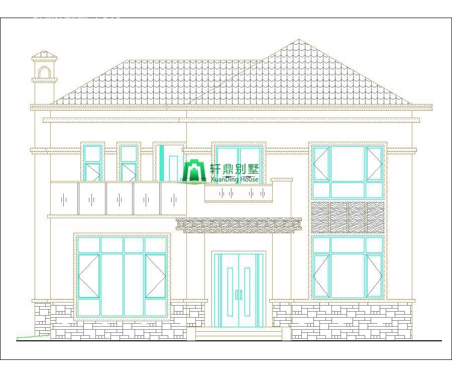 新中式二层自建别墅设计图,含全套完善施工图纸5.jpg