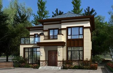 新农村爆款二层新中式小户型造价25万左右的二层自建别墅设计图
