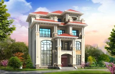 欧式四层复式别墅设计图,农村三层半自建房屋施工图纸