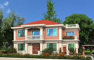 中式二层自建小楼图,农村自建房屋设计图