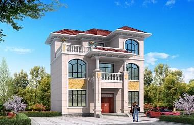 精品欧式三层自建小别墅设计图,美观精致
