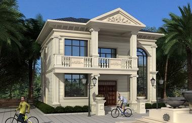 小户型二层欧式自建复式别墅设计施工全套图纸,小巧精致的欧式自建房
