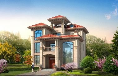 一款非常漂亮切采光通风良好的三层自建房屋设计图