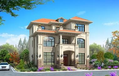 一款经济实用又美观的三层欧式自建别墅设计图