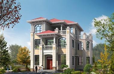 欧式三层自建别墅设计图,农村自建房屋设计图
