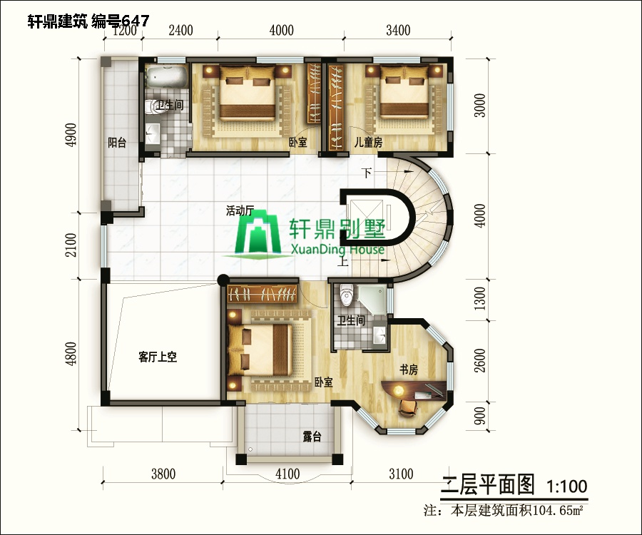 欧式三层半自建别墅设计图6.jpg