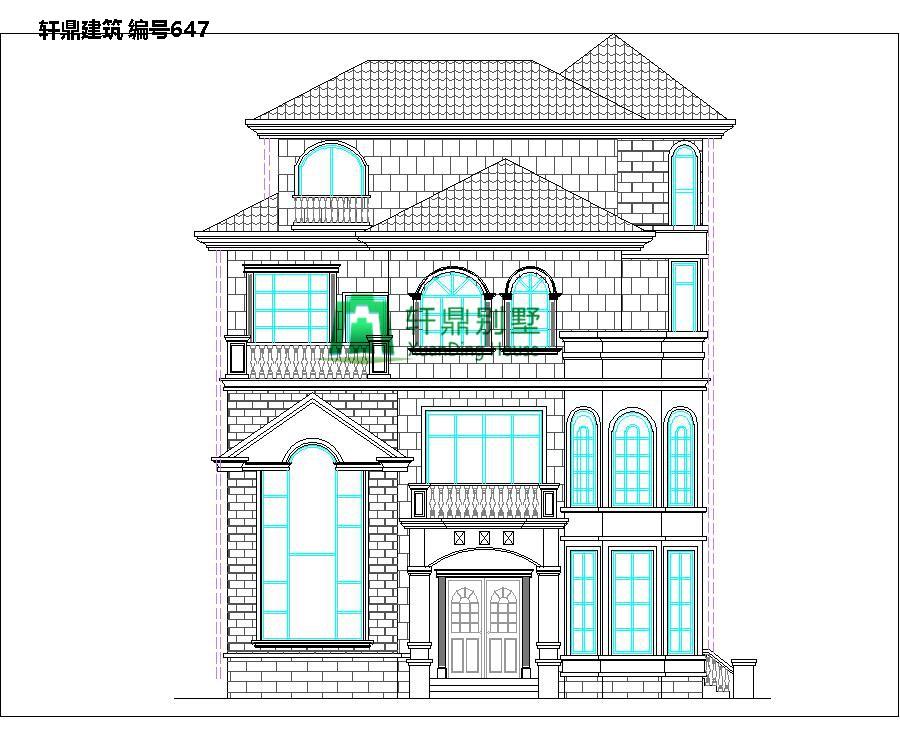 欧式三层半自建别墅设计图1.jpg