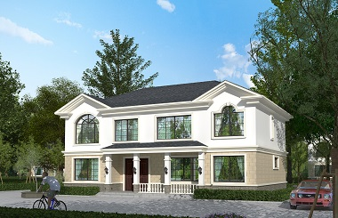 田园二层自建别墅设计施工图,造价30万左右的二层楼房
