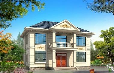 小户型欧式二层自建别墅设计图,非常用心的一款设计
