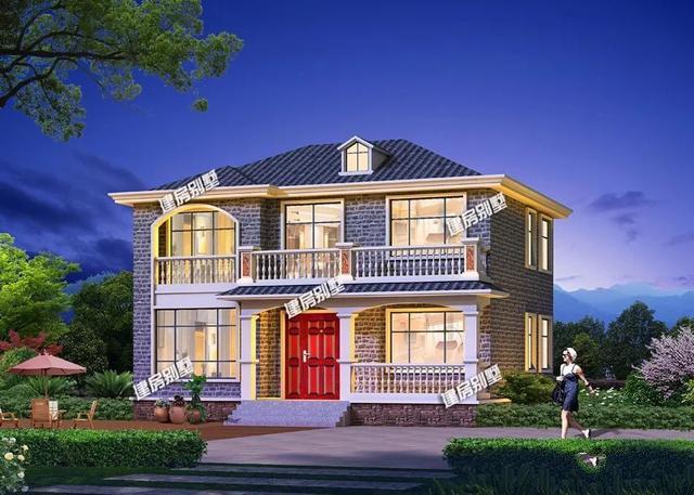 两栋别墅外观设计都非常漂亮,布局也是极尽合理,造价20多万,建一栋这样的别墅在老家,真的很有面子。