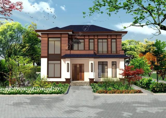 现代风格的自建房,也是新农村建设的一大特色,外观简约自然又漂亮,如果你想建一栋很特别的住宅,选择这款户型准不会出错。