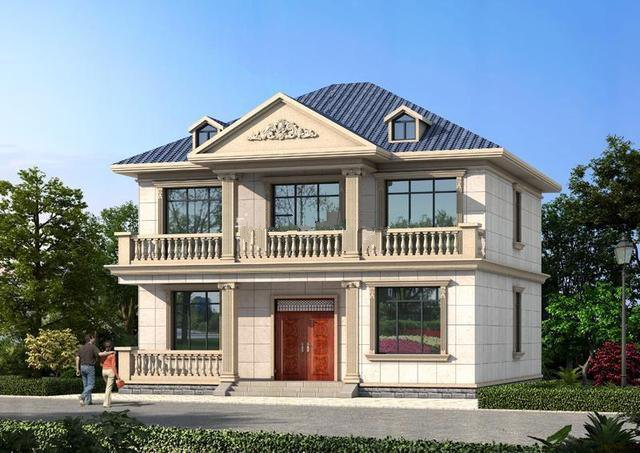 如果自己的地基有这么大的话,在农村建一栋这样的别墅,独栋独院,一家人住着温馨舒适,岂不是美哉