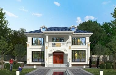 经典二层欧式自建别墅设计施工全套图纸,精品农村自建房