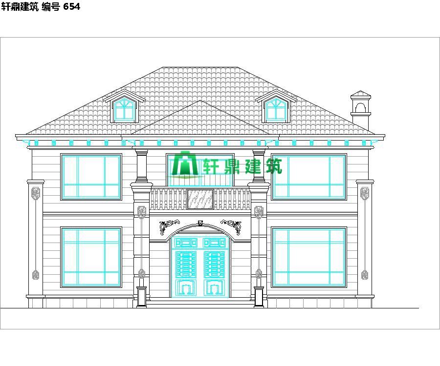 经典小二层欧式自建别墅施工图07.jpg