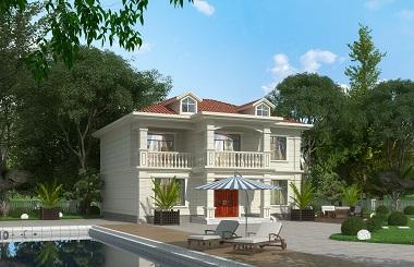 精品小二层自建别墅设计图,小户型自建房屋