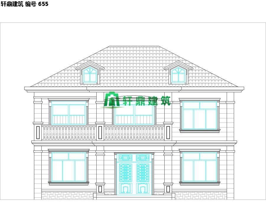 经典现代自建小别墅设计施工图06.jpg