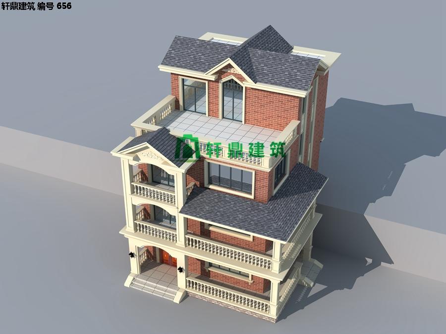 经典四层红砖别墅设计施工全套图纸12.jpg