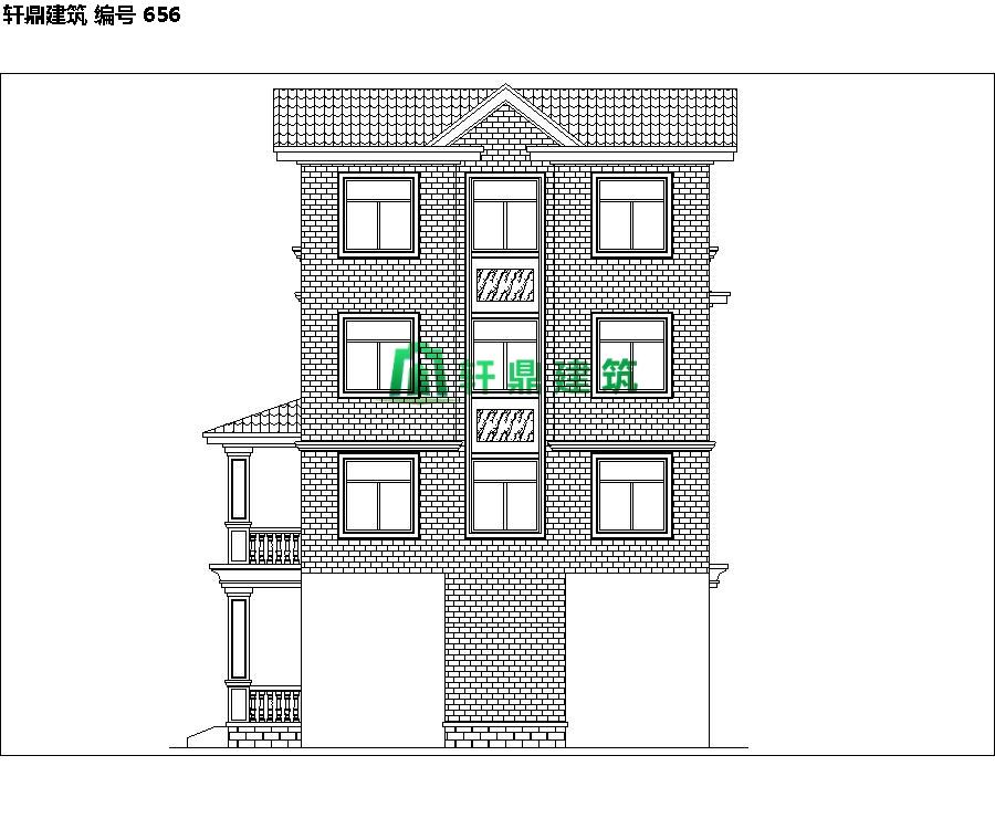 经典四层红砖别墅设计施工全套图纸06.jpg