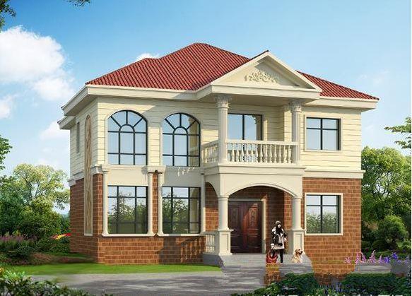 简单的两层自建房屋