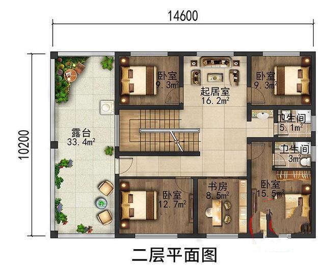 广东罗先生在农村建房,一家八口,四代同堂。这种布局够住吗?